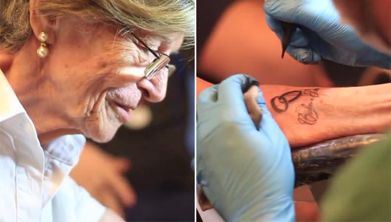 Senhora de 76 anos faz tatuagem para eternizar o amor pelo marido após ele falecer 1