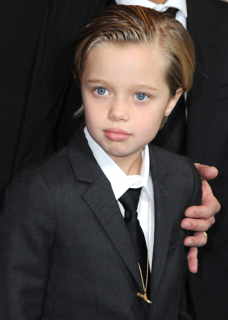 HOLLYWOOD, CA - DECEMBER 15: Shiloh Nouvel Jolie-Pitt attends the premiere of 'Unbroken' at TCL Chinese Theatre IMAX on December 15, 2014 in Hollywood, California. (Photo by Barry King/FilmMagic)