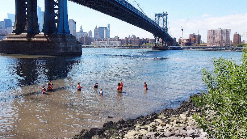 Esta escola dá aulas em rio para mostrar aos alunos a situação da biodiversidade aquática ao vivo 1