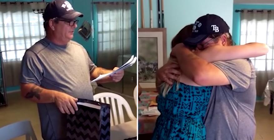 Jovem pede ao padrasto para ser adotada no dia do aniversário dele 1