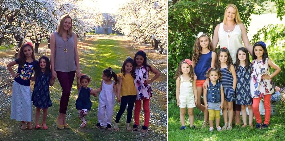 Mulher adota 6 irmãs de uma vez só para que elas ficassem juntas 2