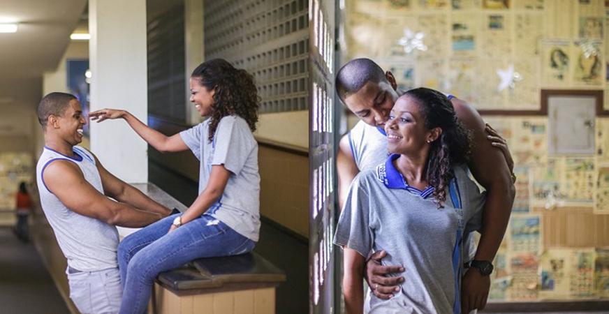 Casal faz ensaio pré-casamento no colégio onde sua história de amor começou 1