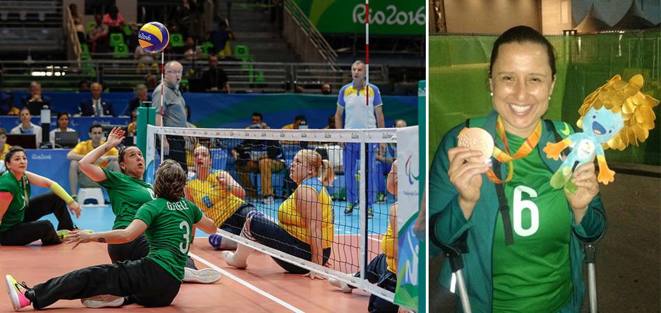 """Com medalha olímpica, Camila Castro diz que vôlei sentado a reviveu: """"voltei a sorrir"""" 2"""