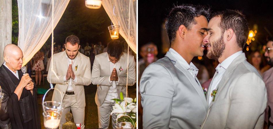 Belíssimas fotos do casamento entre Thiago e Hugo conduzido por uma monja em Brasília 1