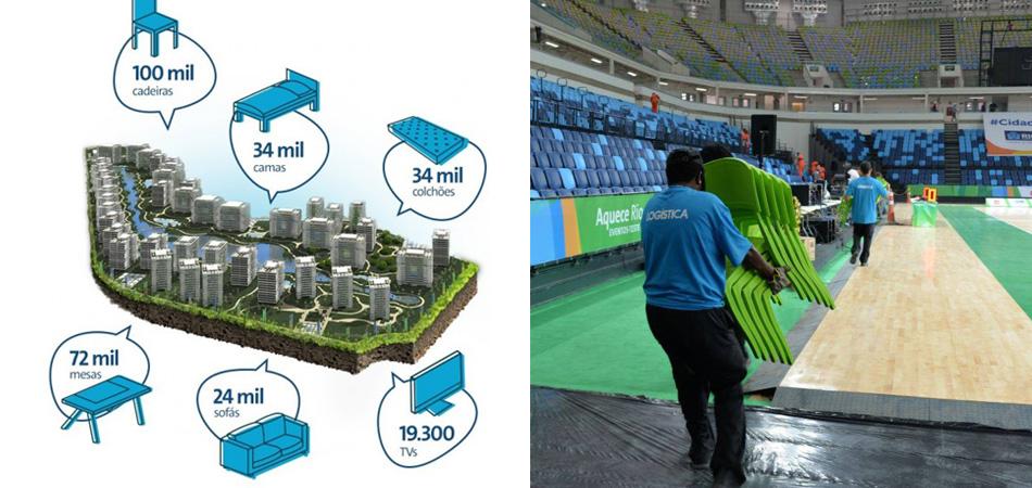 Comitê Organizador do Rio 2016 doará móveis, equipamentos de informática e de esporte usados durante os Jogos 6