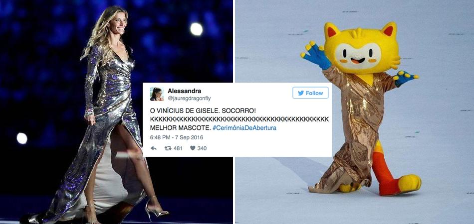 As melhores reações no Twitter sobre o Vinícius aparecer na abertura da Paralimpíadas com o vestido da Gisele 2