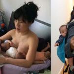 Foto de mãe com seus filhos gêmeos mostra que a maternidade não a impede de seguir seus sonhos 6