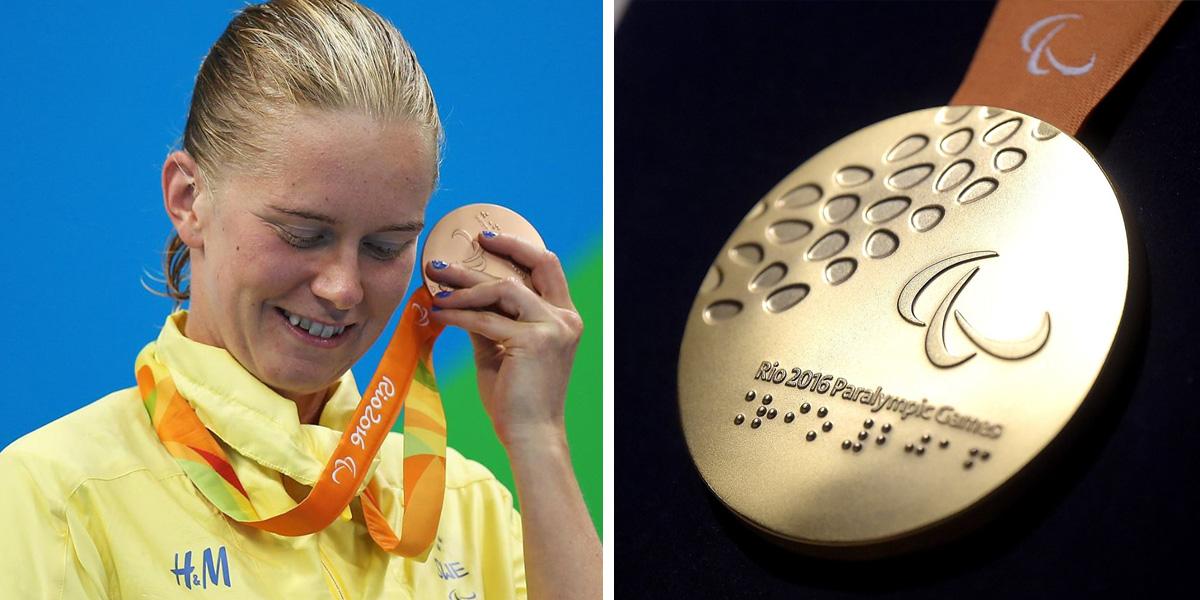 Medalhas com guizos possibilitam que atletas paralímpicos possam escutá-las 1