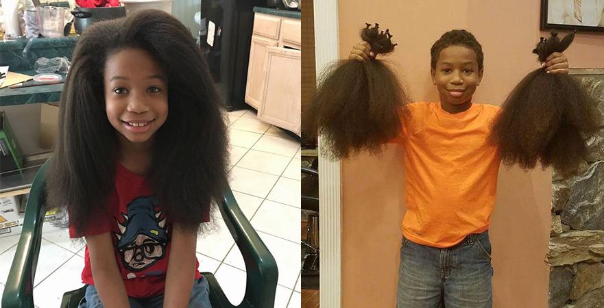 Menino deixa cabelo crescer durante 2 anos pra fazer perucas pra crianças com câncer 1