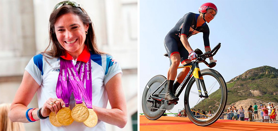 A paratleta Sarah Storey já ganhou 22 medalhas olímpicas em três esportes diferentes 3