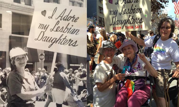 Senhora de 92 anos usa a mesma placa na Parada do Orgulho Gay desde 1970 1
