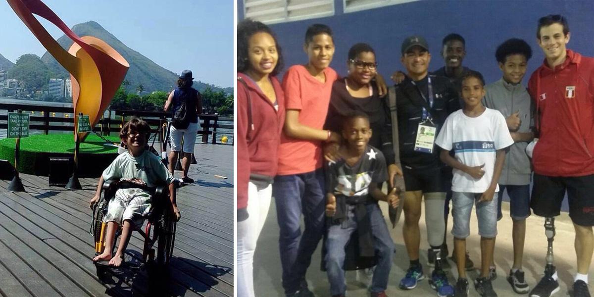 Amigos no Rio fazem vaquinha para levar crianças com deficiência a assistirem os Jogos Paralímipicos 2