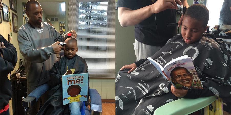 Barbearia dá desconto para crianças que leem livro em voz alta enquanto cortam o cabelo 1