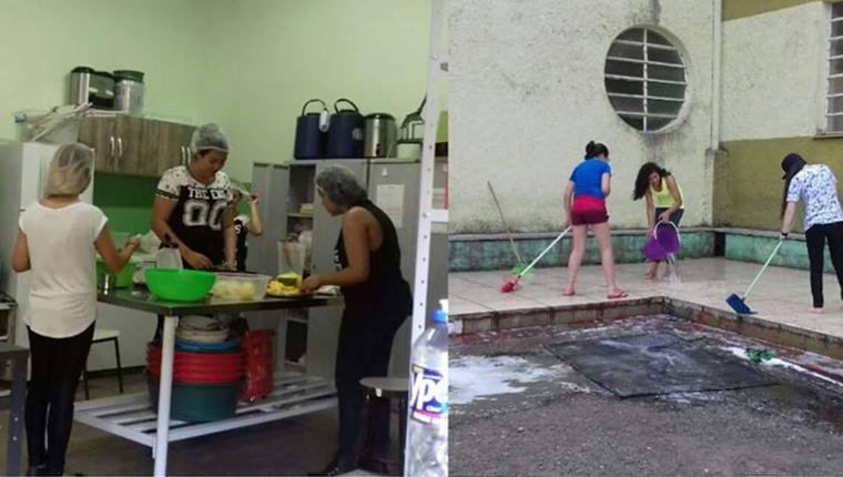 """Estudantes de escola ocupada limpam sujeira e separam recicláveis: """"Ocupação não é bagunça"""" 2"""