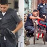 Policial cabeleireiro fez cortes de graça para moradores de comunidade no Rio 2
