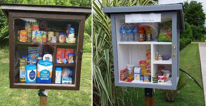 Nestes pequenos armários colocados na rua as pessoas doam produtos para os mais necessitados 2