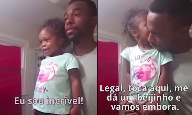 """Pai incentiva filha a repetir frases de empoderamento: """"Eu sou incrível!"""" 1"""