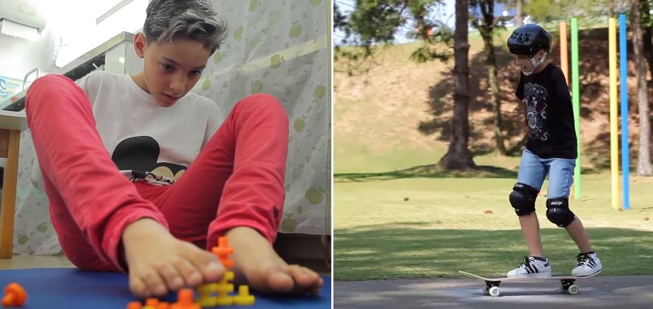 Menino de 11 anos que perdeu os dois braços é exemplo de superação no esporte e na vida 1