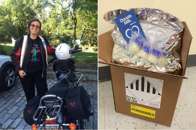 'Gangue' de motoqueiras entrega leite materno para bebês prematuros 4