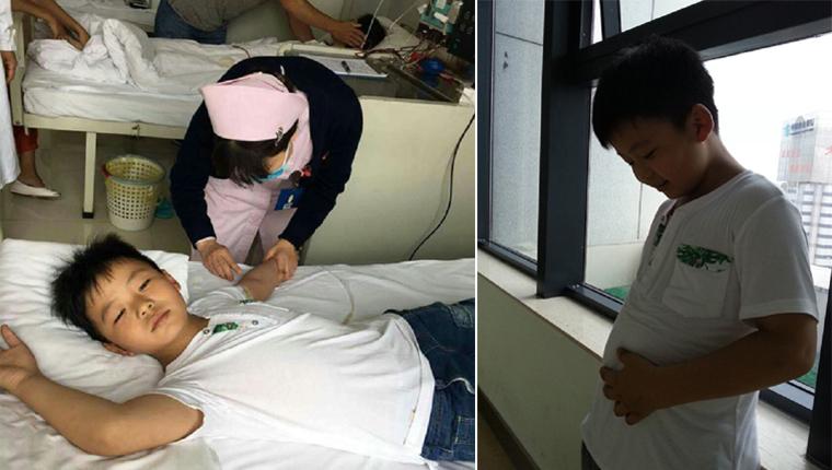 menino engordou 11kg para ajudar o pai