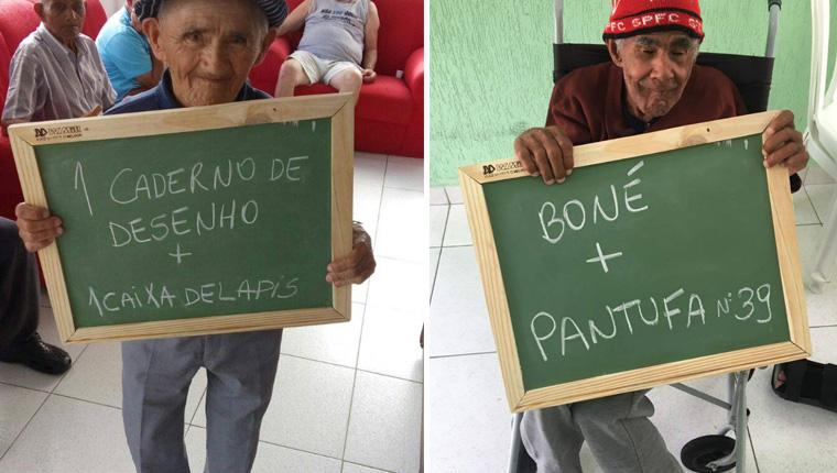 Idosos de asilo do Paraná fazem pedidos de Natal simples e mobilizam milhares de pessoas 2