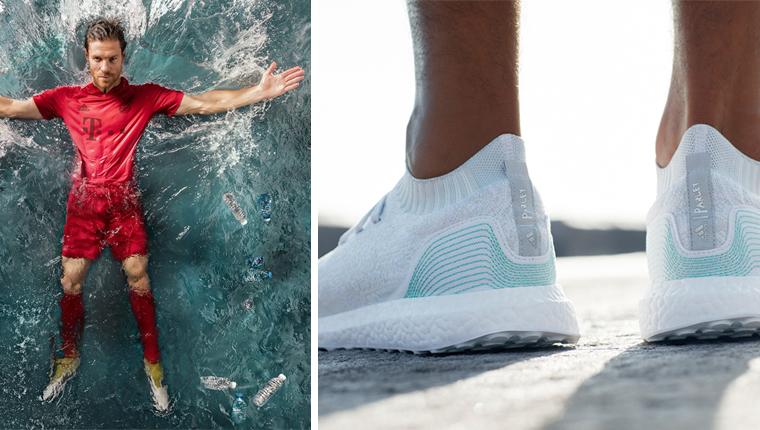 Adidas revela os primeiros produtos feitos com plástico retirado do oceano: tênis e camisas de futebol 1