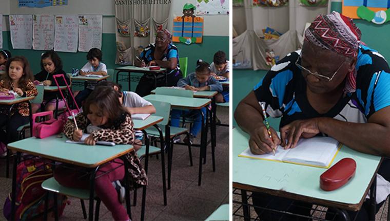 Senhora de 65 anos frequenta escola primária no Paraná para aprender a ler e escrever 1