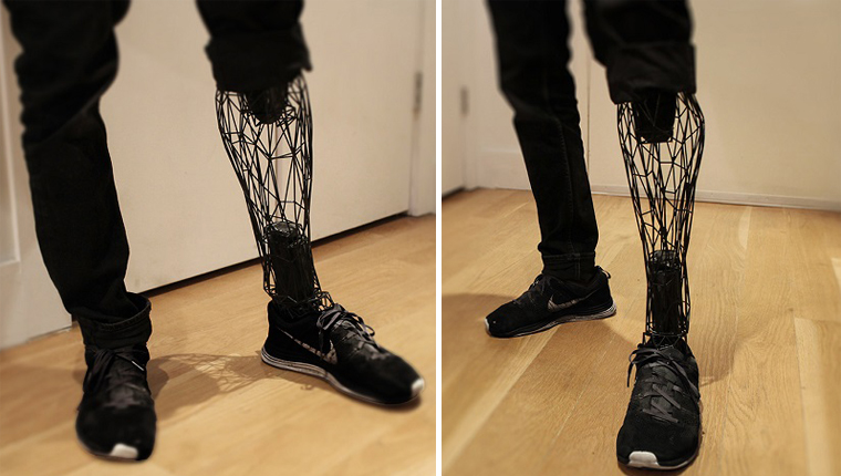 Designer cria prótese que combina resistência, leveza e elegância 1