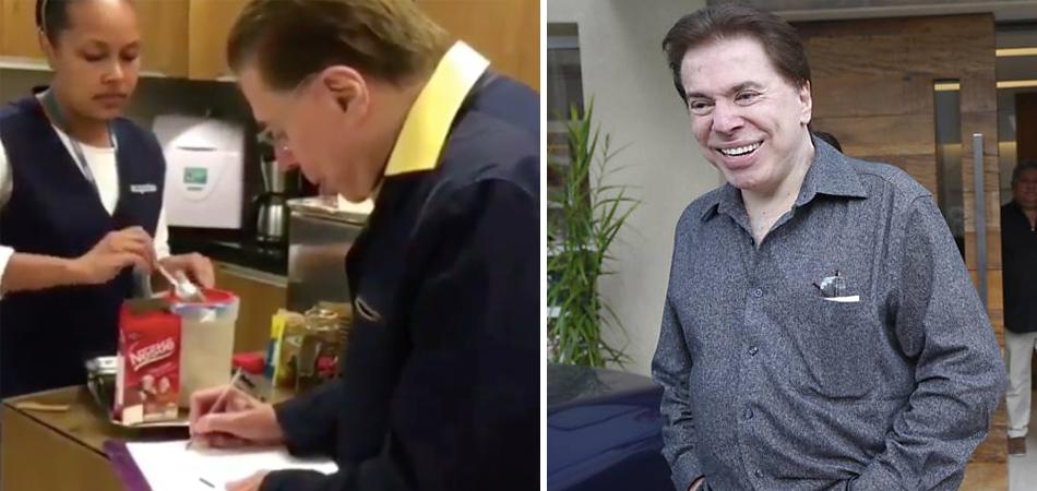Silvio Santos copia receita de cappuccino servido no salão para poder fazer em casa 1