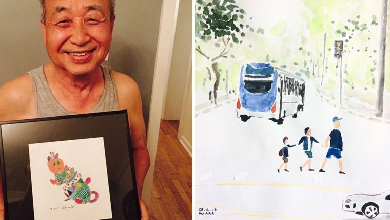 Avô coreano faz desenhos para contar aos netos como é a vida no Brasil 1
