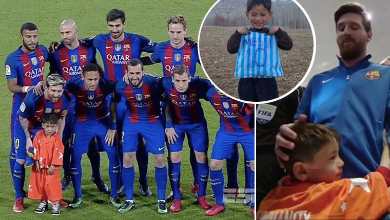 Menino afegão que teve sua foto correndo o mundo finalmente conhece Messi. E não quis mais largá-lo <3 1