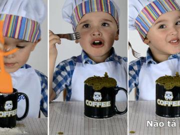 Este menino tentando fazer um bolo de caneca com erva mate é a melhor coisa que você vai ver hoje 11