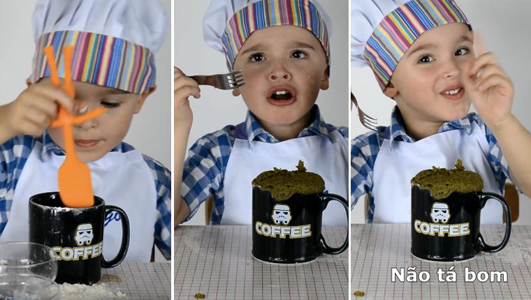 Este menino tentando fazer um bolo de caneca com erva mate é a melhor coisa que você vai ver hoje 1