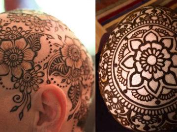 Artista desenha lindas coroas de hena na cabeça de mulheres que perderam o cabelo 2