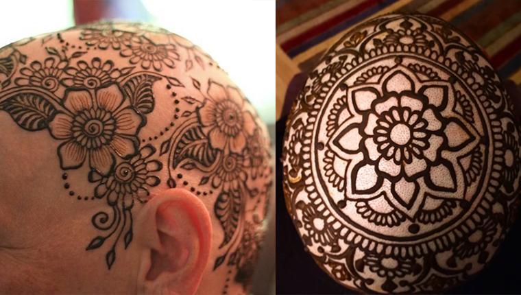 Artista desenha lindas coroas de hena na cabeça de mulheres que perderam o cabelo 4