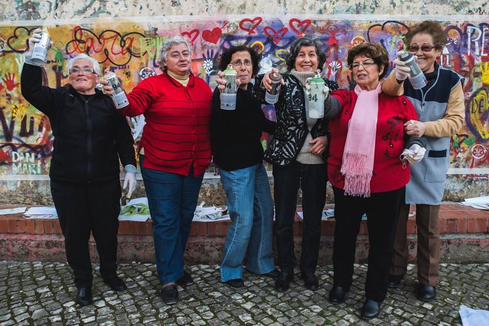 Projeto 'Lata 65' ensina idosos a arte do grafite em Lisboa 6