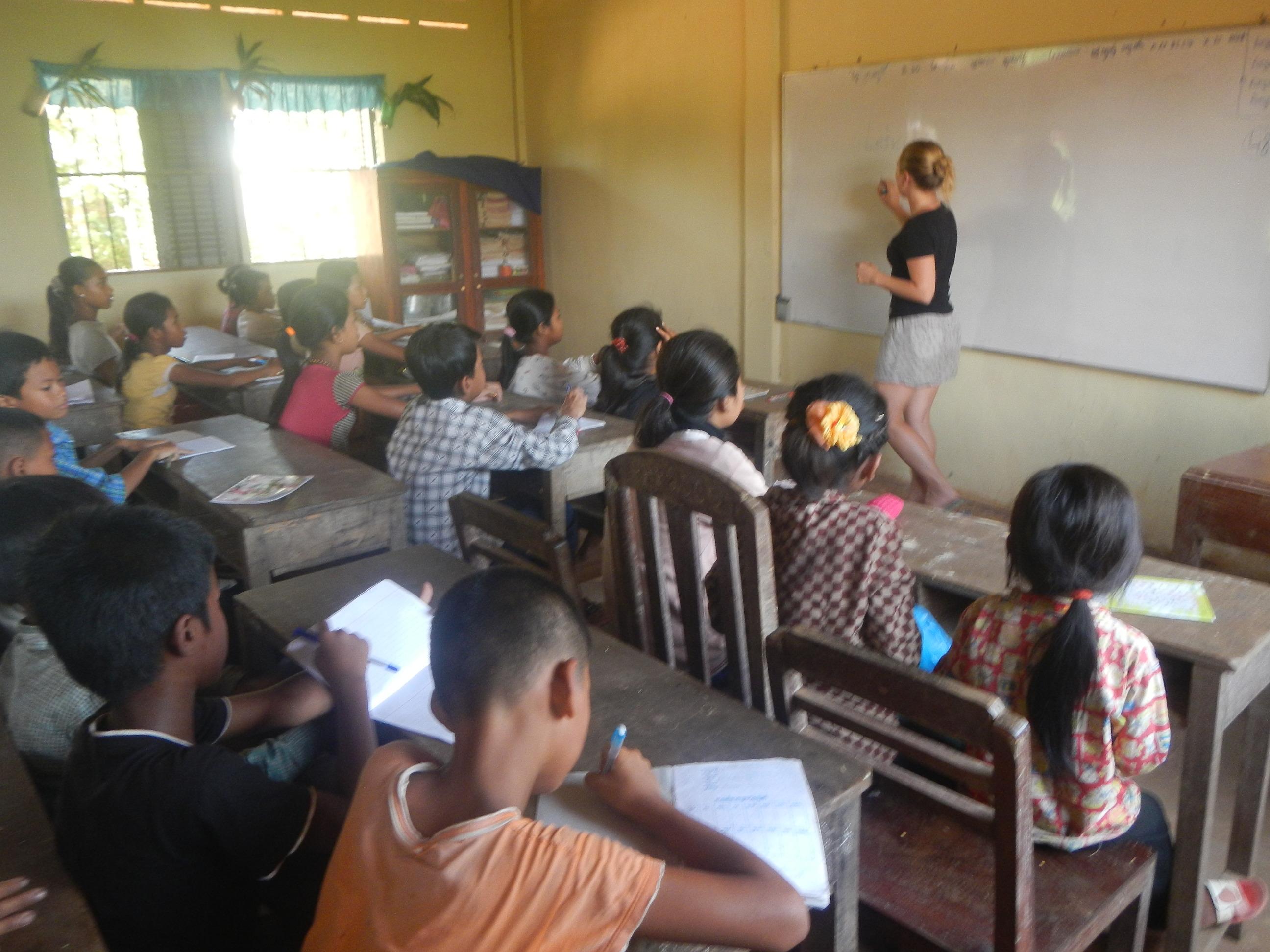 Camboja - aula