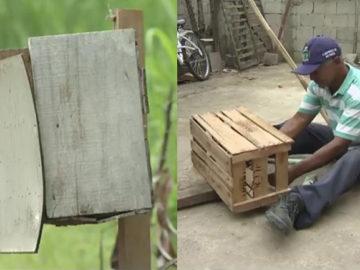 Morador de Pindamonhangaba constrói e distribui lixeiras pela cidade 7