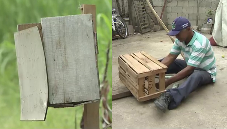 Morador de Pindamonhangaba constrói e distribui lixeiras pela cidade 1