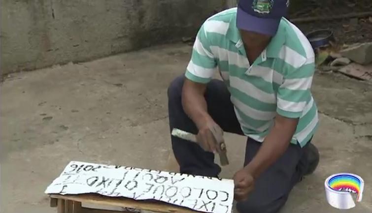 Morador de Pindamonhangaba constrói e distribui lixeiras pela cidade 5