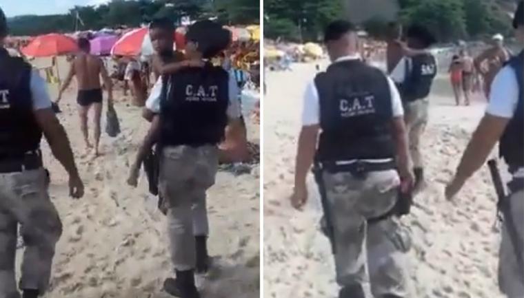 Banhistas batem palmas para ajudar criança perdida reencontrar sua família em Niterói: deu certo! 2