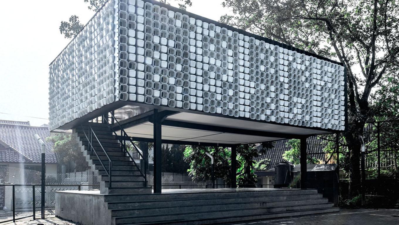 Indonésia ganha biblioteca pública feita com dois mil potes de sorvetes usados 10