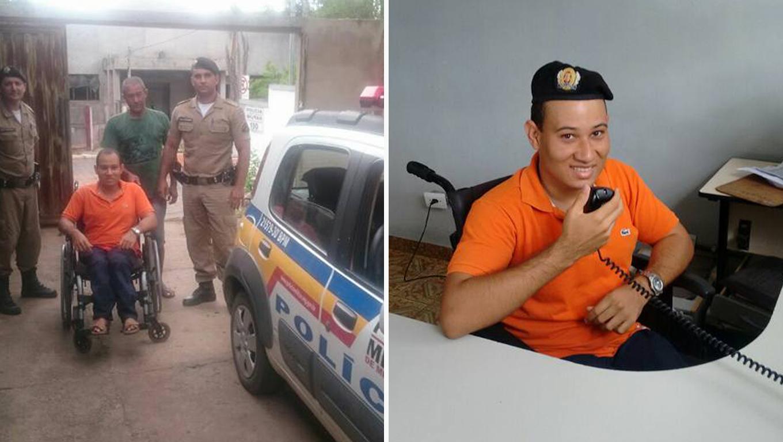 Policiais de Minas Gerais realizam sonho de infância de jovem cadeirante 1