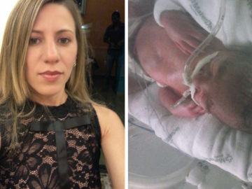Mãe pede para alguém que use o Photoshop retire os tubos da foto de seu filho que faleceu em BH 1
