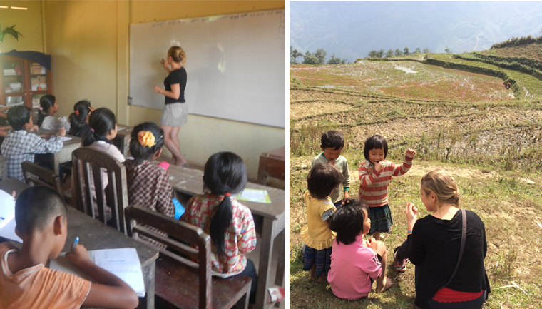 Brasileira viaja pela Ásia dando aulas de inglês para crianças em troca de acomodação 6