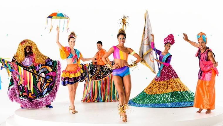 Globeleza veste roupas típicas e traz diversas representações do carnaval e folclore do país 4
