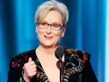 Meryl Streep defende estrangeiros, a arte e manda recado para Trump no Globo de Ouro 2