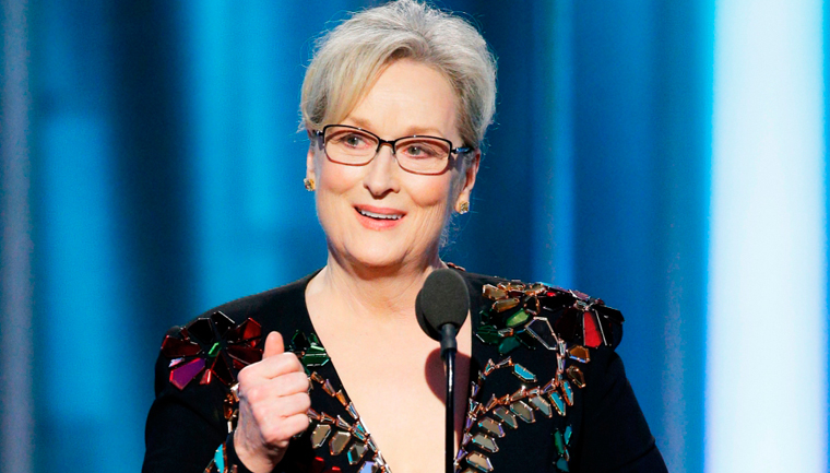 Meryl Streep defende estrangeiros, a arte e manda recado para Trump no Globo de Ouro 1