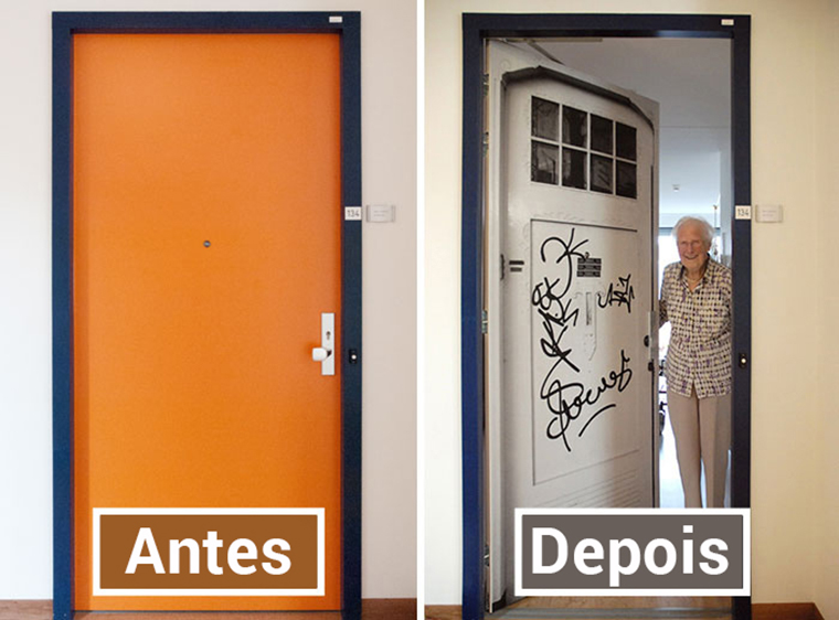 Empresa recria portas de idosos internados com demência para que possam se sentir em casa 13