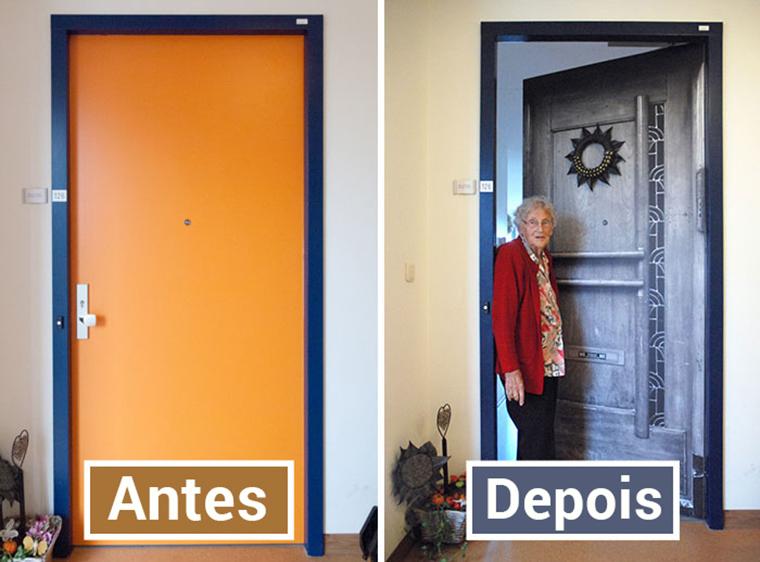 Empresa recria portas de idosos internados com demência para que possam se sentir em casa 11